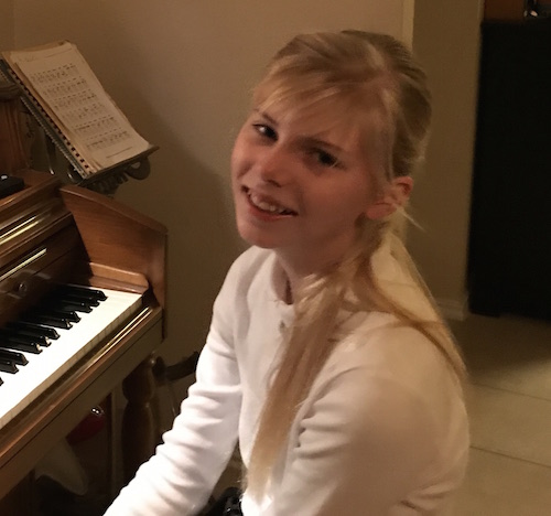 Georgia at the Piano