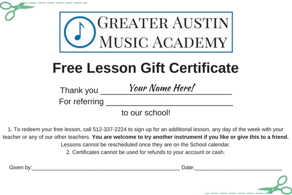 Get a Free Music Lesson