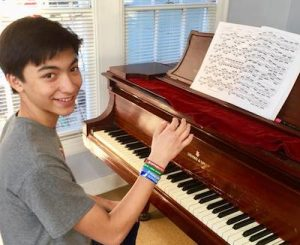 Miguel at his Piano Lesson